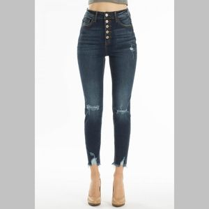 Denim - Nikki Distressed Ankle Skinny Jeans
